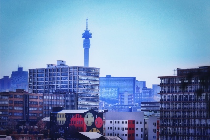 Hillbrow tower, from Maboneng