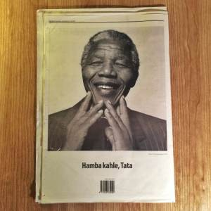 Extract from last new's newspapers, the day Mandiba died