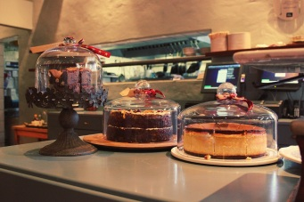 The cake options at Salvation Café