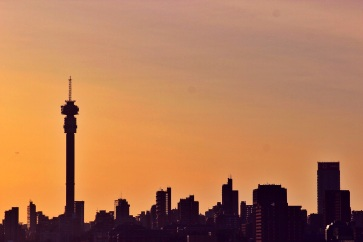 Jozi's skyline at sunrise