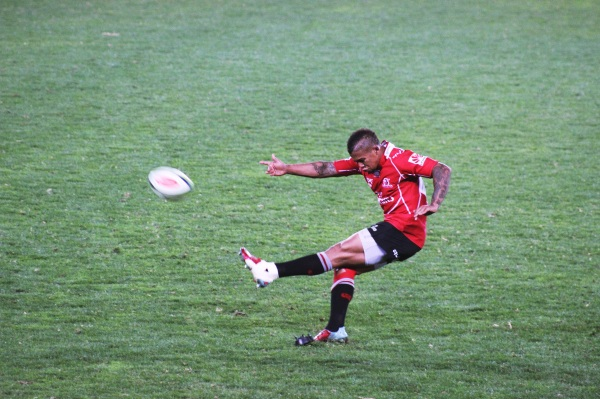 Jantjies scoring after the last try of the first half