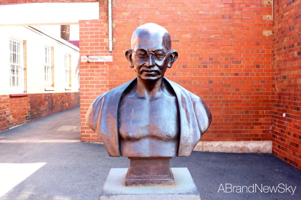 The time Ghandi served on the hill is well remembered during the visit of Section 4