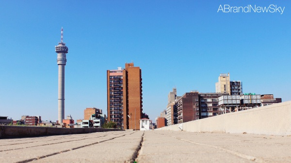 Strolling on the top of the fort, you get some nice views of  Hillbrow's skyline