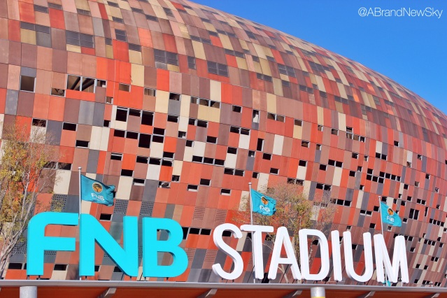 How is it called again? Oh, yes, right... FNB Stadium. How could I forget...